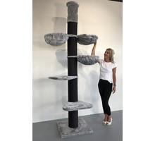 RHRQuality Kratzbaum Maine Coon Tower PLUS Blackline Light Grey