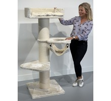 RHRQuality Cat Tree Royalty Crown Cream