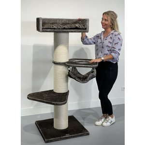 RHRQuality Cat Tree Royalty Crown Taupe