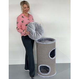 RHRQuality Cat Tree Coony 80 Light Grey