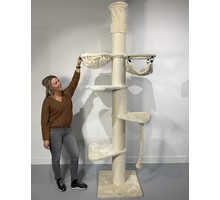 RHRQuality Cat Tree Maine Coon Tower Crown Cream