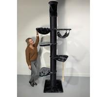 RHRQuality Cat Tree Maine Coon Tower Crown Blackline Dark Grey
