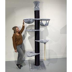 RHRQuality Kratzbaum Maine Coon Tower Crown Blackline Light Grey