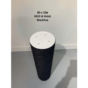 RHRQuality Sisalpaal 80x20cm M10 BLACKLINE (4 gaten)