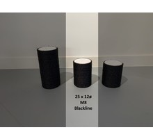 RHRQuality Sisalpaal 25x12Ø M8 BLACKLINE