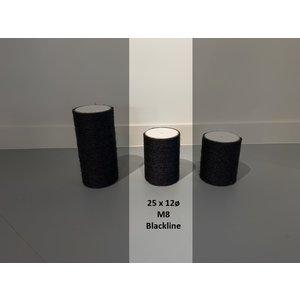 RHRQuality Krabpaal onderdelen Sisalpaal 25x12Ø M8 BLACKLINE