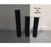 RHRQuality Sisalpaal 60x15Ø M8 BLACKLINE