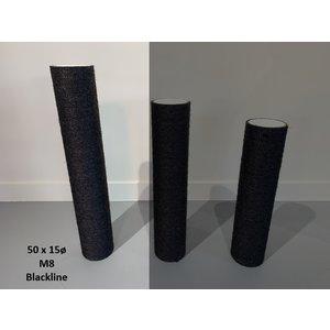 RHRQuality Krabpaal onderdelen Sisalpaal 50x15Ø M8 BLACKLINE