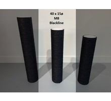 RHRQuality Sisalstamm 40x15Ø M8 BLACKLINE