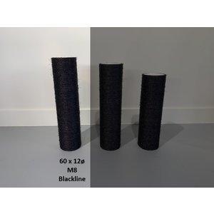 RHRQuality Sisalpole 60x12Ø M8  BLACKLINE
