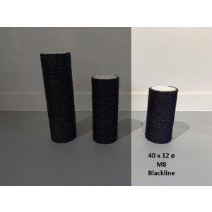 RHRQuality Krabpaal onderdelen Sisalpaal 40x12Ø M8 BLACKLINE