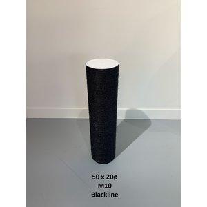 RHRQuality Sisalstamm 50x20Ø M10 BLACKLINE