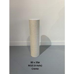RHRQuality Sisalpole 80x20Ø M10 (4 holes)