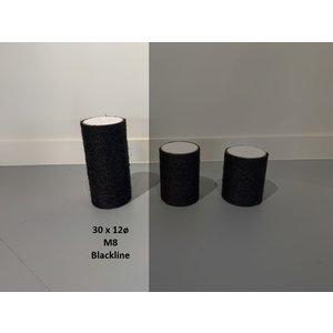 RHRQuality Sisalpaal 30x12Ø M8  BLACKLINE