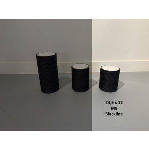 RHRQuality Sisalpaal 24,5x12Ø M8 BLACKLINE