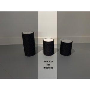 RHRQuality Sisalpaal 20x12Ø M8 BLACKLINE