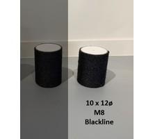 RHRQuality Sisalpole 10x12Ø M8 BLACKLINE