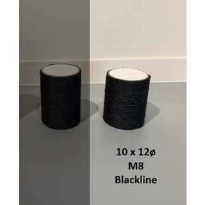 RHRQuality Sisalpaal 10x12Ø M8 BLACKLINE