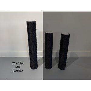 RHRQuality Sisalstamm 70x15Ø M8 BLACKLINE