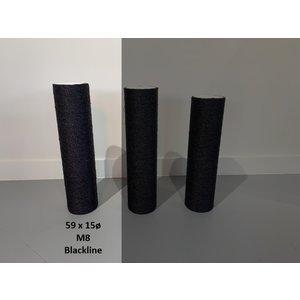 RHRQuality Sisalpaal 59x15Ø M8  BLACKLINE