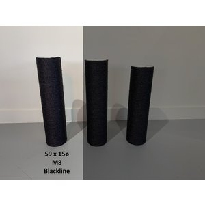 RHRQuality Sisalstamm 59x15Ø M8 BLACKLINE