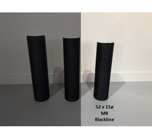 RHRQuality Sisalpaal 52x15Ø M8  BLACKLINE