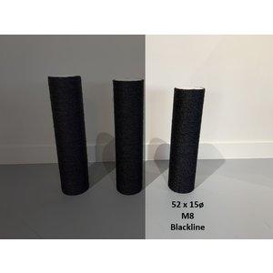RHRQuality Sisalstamm 52x15Ø M8 BLACKLINE
