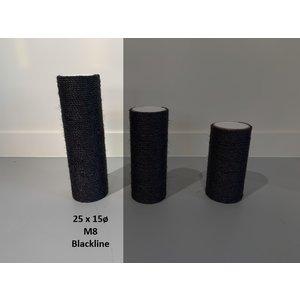 RHRQuality Sisalpaal 25x15Ø M8  BLACKLINE