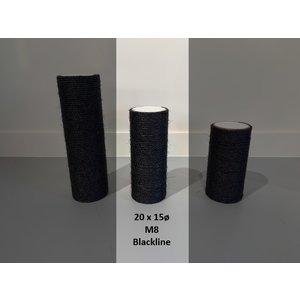 RHRQuality Sisalpole 20x15Ø M8 BLACKLINE