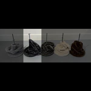 RHRQuality Plafondspanner (20cm sisalpalen) Dark Grey