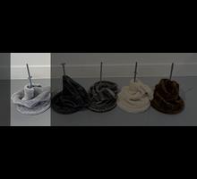 RHRQuality Deckenspanner (20Ø Sisalpalen) Light Grey