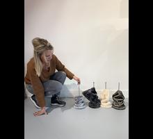 RHRQuality Plafondspanner ( 12cm  tot 15cm sisalpalen) Creme