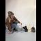 RHRQuality Deckenspanner (12cm bis 15cm Sisalstämme) Creme