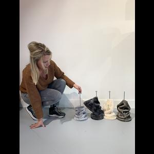 RHRQuality Plafondspanner ( 12cm  tot 15cm sisalpalen) Light Grey