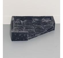 RHRQuality Driehoekige ligbak - Corner Coon - Dark Grey