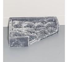 RHRQuality Driehoekige ligbak - Corner Coon - Light Grey