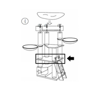 RHRQuality Quadratische Platte Corner Coon 60x50 - Taupe