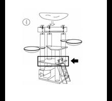 RHRQuality Vierkante middenplaat Corner Coon 60x510 - Taupe