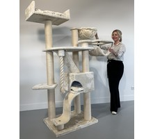 RHRQuality Cat Tree Kilimandjaro de Luxe Crown Cream