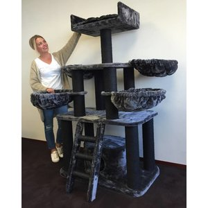 RHRQuality Cat Tree Panther PLUS Blackline Dark Grey