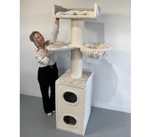 RHRQuality Kratzbaum Maine Coon Tower Box Comfort Creme