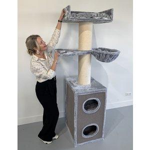RHRQuality Kratzbaum Maine Coon Tower Box Comfort Light Grey