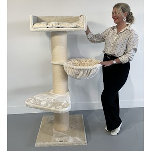 RHRQuality Cat Tree Royalty de Luxe Creme