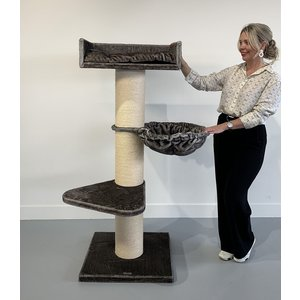 RHRQuality Cat Tree Royalty de Luxe Taupe