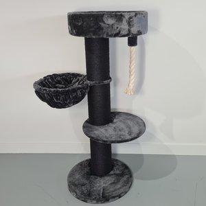 RHRQuality Cat Tree Maine Coon Sleeper de Luxe Blackline Dark Grey