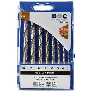 BOC houtborenset 8 dlg 3-10mm