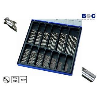 BOC spiraalboren set, 130 dlg, HSS-G, 1-6+3,3-4,2mm