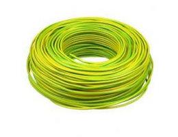 Schakeldraad groen/geel 100 meter
