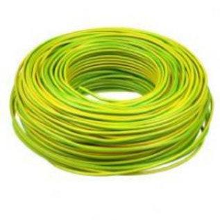 Schakeldraad 0,22mm 100 meter groen/geel