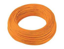 Schakeldraad oranje/zwart 100 meter